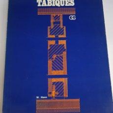 Libros de segunda mano: TABIQUES - LIBRO DE ARQUITECTURA - ARM08. Lote 151609792