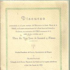 Libros de segunda mano: 3880.- MONASTERIO DE SANTA MARIA DE LA RÁBIDA - SOCIEDAD COLOMBINA ONUBENSE -SALIDA DE LAS CARABELAS. Lote 151704798