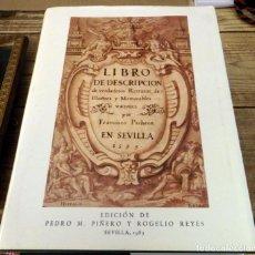 Libros de segunda mano: LIBRO DE DESCRIPCIÓN DE VERDADEROS RETRATOS DE ILUSTRES Y MEMORABLES VARONES. FRANCISCO PACHECO.. Lote 151742266