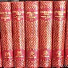 Libros de segunda mano: FERNÁNDEZ FLOREZ, WENCESLAO. OBRAS COMPLETAS. AGUILAR. 7 TOMOS. Lote 151817650