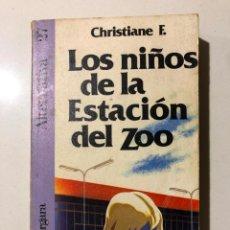 Libros de segunda mano: CHRISTIANE F. LOS NIÑOS DE LA ESTACIÓN DEL ZOO. ALTERNATIVA 27. ARGOS VERGARA. 1981. Lote 151838330