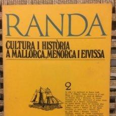 Libros de segunda mano: CULTURA I HISTORIA A MALLORCA, MENORCA I EIVISSA, RAMON LLULL, MASSOT I MUNTANER JOSEP. Lote 152014710