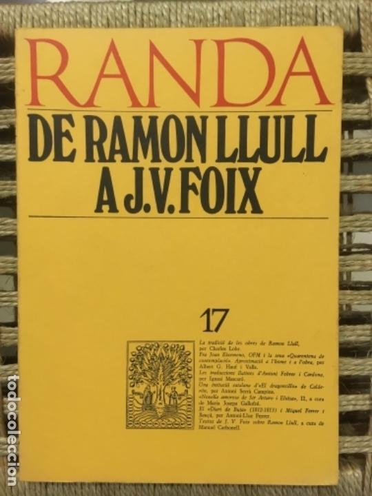 DE RAMON LLULL A J. V. FOIX, MASSOT I MUNTANER JOSEP (Libros de Segunda Mano - Historia - Otros)