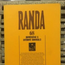 Libros de segunda mano: HOMENATGE A ANTHONY BONNER, RAMON LLULL, MASSOT I MUNTANER JOSEP. Lote 152015498