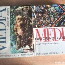 Libros de segunda mano: HISTORIA DE LA EDAD MEDIA, TOMOS I Y II, LACARRA Y REGLÁ, 1971. Lote 152037754