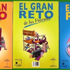 Libros de segunda mano: LOTE 3 LIBROS - EL GRAN RETO (MUSICA, CINE, LITERATURA). Lote 152059950