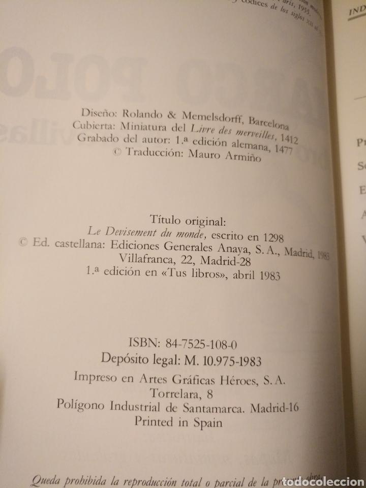 Libros de segunda mano: ANAYA TUS LIBROS 27,MARCO POLO,1°edicion - Foto 4 - 152159497