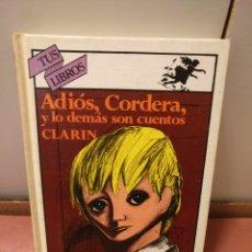 Libros de segunda mano: ANAYA TUS LIBROS 20,ADIOS CORDERA,1°EDICION. Lote 152159920