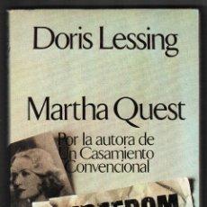 Libros de segunda mano: DORIS LESSING / MARTA QUEST . ARGOS VERGARA 1980. 1ª EDICIÓN. * NOVELA AUTOBIOGRÁFICA *. Lote 152198318