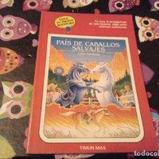 Libros de segunda mano: DIFICIL LIBRO ELIGE TU PROPIA AVENTURA TIMUN MAS Nº 14 PAIS DE CABALLOS SALVAJES LYNN SONBERG 1986. Lote 152213510