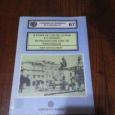 Libros de segunda mano: CUADERNOS DO SEMINARIO DE SARGADELOS Nº67.EDICIOS DO CASTRO.. Lote 152279714