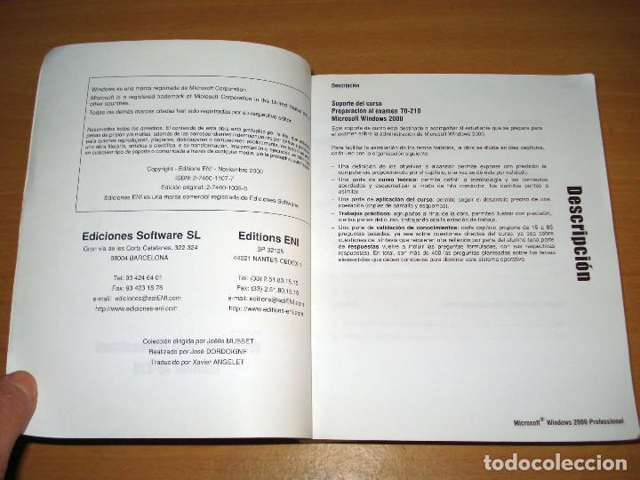 Libros de segunda mano: WINDOWS 2000 PROFESSIONAL. EXAMEN 70-210. PREPARACIÓN PARA EL EXAMEN MCSE (sin CD). ED. ENI. 2000 - Foto 2 - 152300642