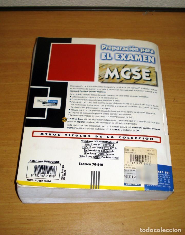 Libros de segunda mano: WINDOWS 2000 PROFESSIONAL. EXAMEN 70-210. PREPARACIÓN PARA EL EXAMEN MCSE (sin CD). ED. ENI. 2000 - Foto 5 - 152300642