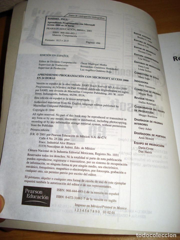 Libros de segunda mano: PROGRAMACIÓN CON MICROSOFT ACCESS 2000. APRENDIENDO EN 24 HORAS. PRENTICE HALL. AÑO 2001 - Foto 3 - 152305886