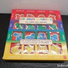 Libros de segunda mano: COLORES MÁGICOS. UN LIBRO CON IMÁGENES. 16 PIEZAS MAGNÉTICAS. (ENVÍO 4,31€). Lote 152312454