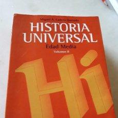 Libros de segunda mano: HISTORIA UNIVERSAL II: EDAD MEDIA. MIGUEL LADERO. VICENS VIVES, 1997.. Lote 139130506