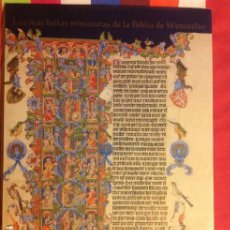 Libros de segunda mano: LAS MAS BELLAS MINIATURAS DE LA BIBLIA DE WENCESLAO - EDITORIAL CASARIEGO 1999. Lote 152366426