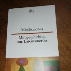Libros de segunda mano: MINIFICCIONES, CORTAZAR, BORGES, BIOY CASARES, ETC.. BILINGUE . Lote 152490834
