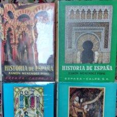 Libros de segunda mano: HISTORIA DE ESPAÑA DE RAMÓN MENÉNDEZ PIDAL. LOTE DE 7 VOLÚMENES O POR VOLÚMENES SUELTOS. Lote 173161863