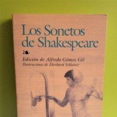 Libros de segunda mano: SONETOS DE SHAKESPEARE -- WILLIAM SHAKESPEARE -- EDAF. Lote 152540134