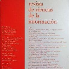 Libros de segunda mano: REVISTA DE CIENCIAS DE LA INFORMACIÓN, 4. MADRID : UCM, FACULTAD DE CIENCIAS DE LA INFORMACIÓN, 1987. Lote 152612194
