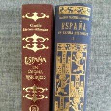 Libros de segunda mano: ESPAÑA, UN ENIGMA HISTÓRICO. CLAUDIO SÁNCHEZ- ALBORNOZ. 2 TOMOS. O. C. . Lote 152684254