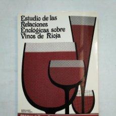 Libros de segunda mano - ESTUDIOS DE LAS RELACIONES ENOLOGICAS SOBRE VINOS DE RIOJA. MONTSERRAT IÑIGUEZ CRESPO. TDK371 - 152749642