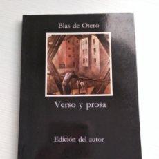 Libros de segunda mano: VERSO Y PROSA. BLAS DE OTERO. Lote 152780537
