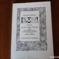 Libros de segunda mano: LIBRO DE MARI CARMEN FORCADA TUDELA NAVARRA. Lote 152797558