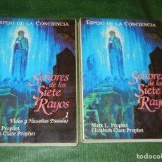 Libros de segunda mano: SEÑORES DE LOS SIETE RAYOS -2 VOLS., MARK.L.PROPHET Y ELIZABETH CLARE PROPHET 1995. Lote 152836502