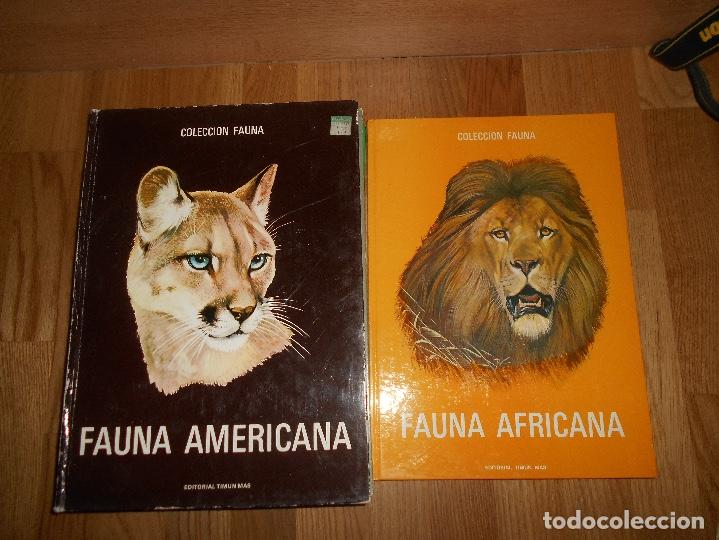 Libros de segunda mano: COLECCIÓN FAUNA DE MUNDO POR CONTINENTES 5 TOMOS EDITORIAL TIMUN MAS 1970 BUEN ESTADO - Foto 3 - 220728457