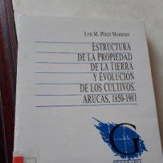 Libros de segunda mano: ESTRUCTURA DE LA PROPIEDAD DE LA TIERRA Y EVOLUCIÓN DE LOS CULTIVOS, ARUCAS 1850-1981. CANARIAS.. Lote 135571238