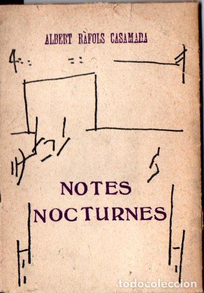 RÁFOLS CASAMADA . NOTES NOCTURNES (1974) (Libros de Segunda Mano - Bellas artes, ocio y coleccionismo - Otros)