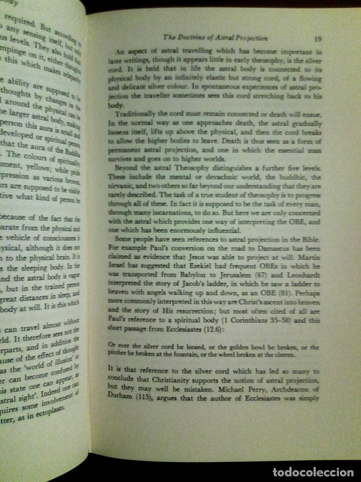 Libros de segunda mano: Blackmore, Susan - Beyond the Body / VIAJE ASTRAL, PARAPSICOLOGÍA, PARANORMAL / - Foto 8 - 53524610