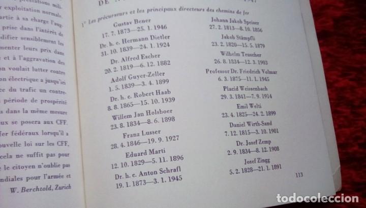 Libros de segunda mano: Le centenaire des chemins de fer suisses. 1947 - Foto 5 - 153113746