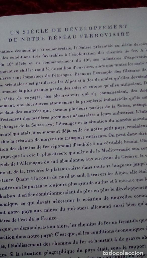 Libros de segunda mano: Le centenaire des chemins de fer suisses. 1947 - Foto 10 - 153113746