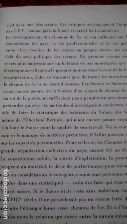 Libros de segunda mano: Le centenaire des chemins de fer suisses. 1947 - Foto 11 - 153113746