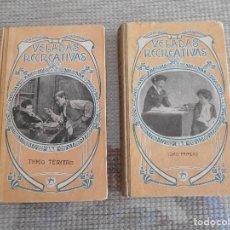 Libros de segunda mano: LIBROS DE VELADAS RECREATIVAS 1914-1917 CARTONE. Lote 153323702
