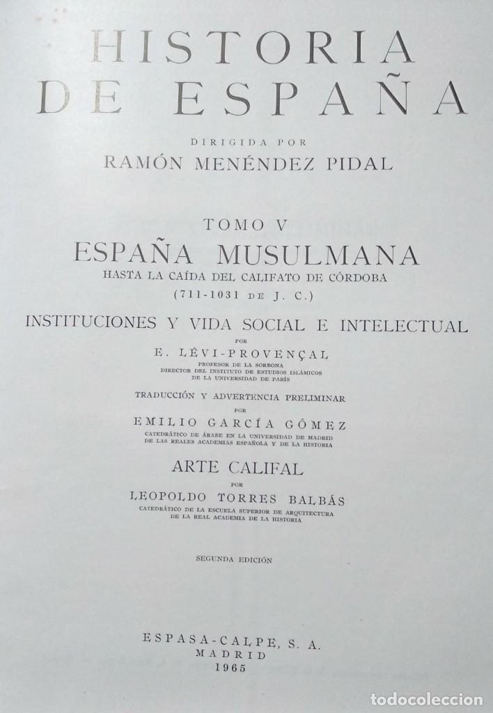 Libros de segunda mano: Historia de España de Ramón Menéndez Pidal. Lote de 7 volúmenes o por volúmenes sueltos - Foto 4 - 173161863