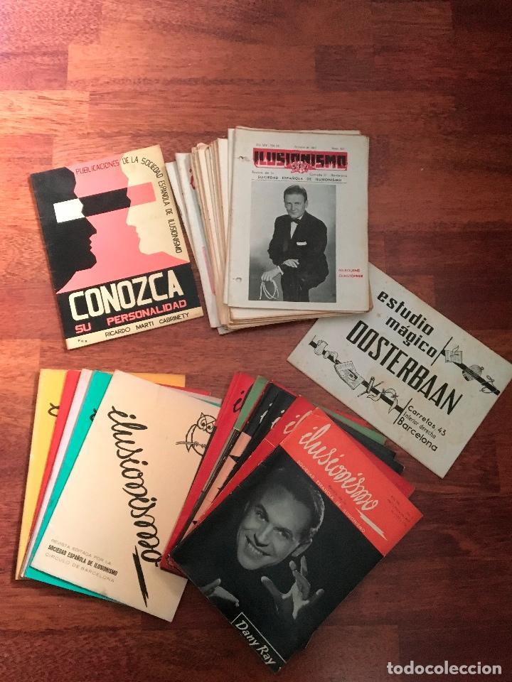 LOTE DE 34 REVISTAS ILUSIONISMO MAGIA SOCIEDAD ESPAÑOLA DE ILUSIONISMO AÑOS 50 (Libros de Segunda Mano - Bellas artes, ocio y coleccionismo - Otros)