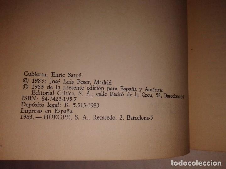 Libros de segunda mano: JOSE LUIS PESET, CIENCIA Y MARGINACION, 1983 - Foto 2 - 153577930