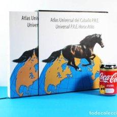 Libros de segunda mano: ATLAS UNIVERSAL DEL CABALLO P.R.E. PURA RAZA ESPAÑOLA,CON ESTUCHE, GENERAL SERVICIOS ECUESTRES 2006. Lote 153814006
