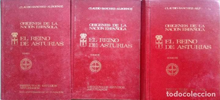 C. SANCHEZ-ALBORNOZ. ORÍGENES DE LA NACIÓN ESPAÑOLA. 3 VOLS. OVIEDO. 1972-1975 (Libros de Segunda Mano - Historia - Otros)