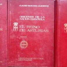 Libros de segunda mano: C. SANCHEZ-ALBORNOZ. ORÍGENES DE LA NACIÓN ESPAÑOLA. 3 VOLS. OVIEDO. 1972-1975. Lote 153864930