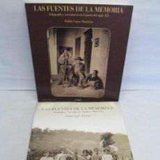 Libros de segunda mano: LAS FUENTES DE LA MEMORIA I Y II. FOTOGRAFIA Y SOCIEDAD EN ESPAÑA. PUBLIO LOPEZ MONDEJAR. . Lote 154134322