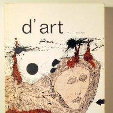 Libros de segunda mano: D'ART - BARCELONA 1985 - IL·LUSTRAT. Lote 154257493