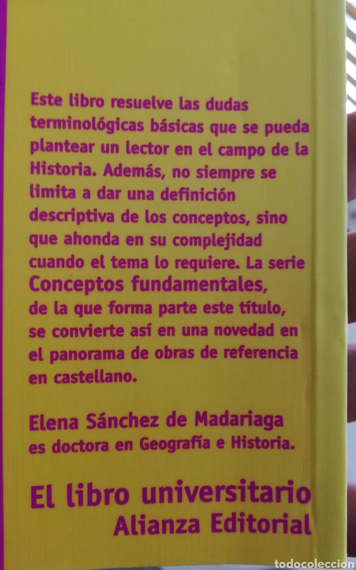 Libros de segunda mano: Conceptos fundamentales de historia Alianza Editorial - Foto 2 - 154315228