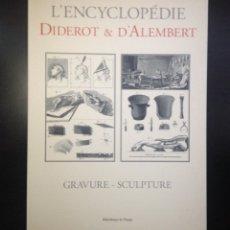 Libros de segunda mano: ENCICLOPEDIA DIDEROT. GRABADO Y ESCULTURA. 2002.. Lote 154354140