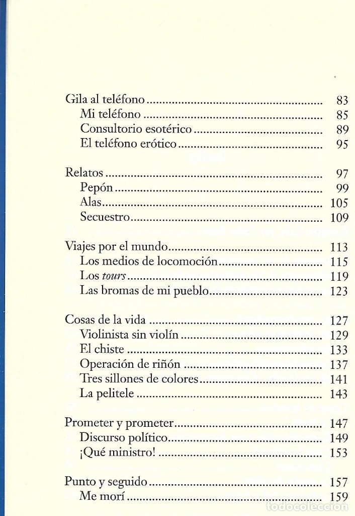 Libros de segunda mano: Siempre Gila. Antología de sus mejores monólogos. Miguel Gila - Foto 3 - 138058242