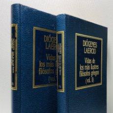 Libros de segunda mano: DIOGENES LAERCIO ·· VIDAS DE LOS MAS ILUSTRES FILOSOFOS GRIEGOS ··· 2 VOLS.. Lote 154425846